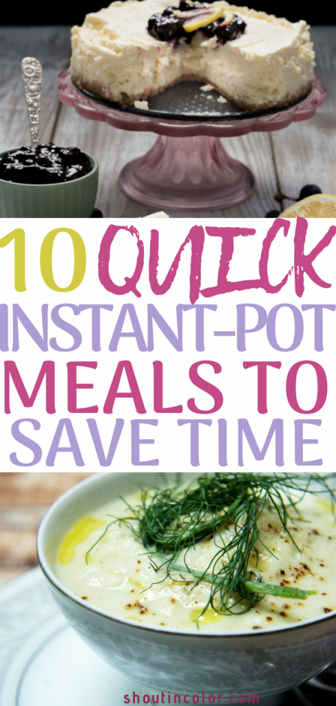 Easy instant-pot meals to save time