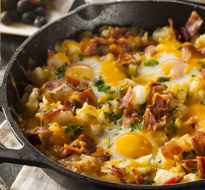Low carb diet recipes: Bacon Hash Recipe