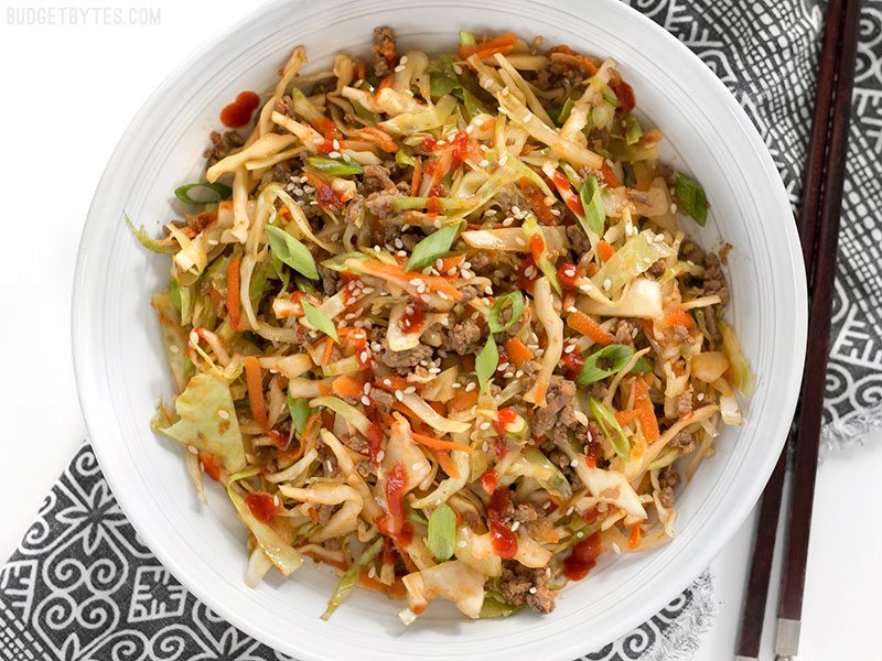 Low carb diet recipes: Beef and Cabbage Stir-fry