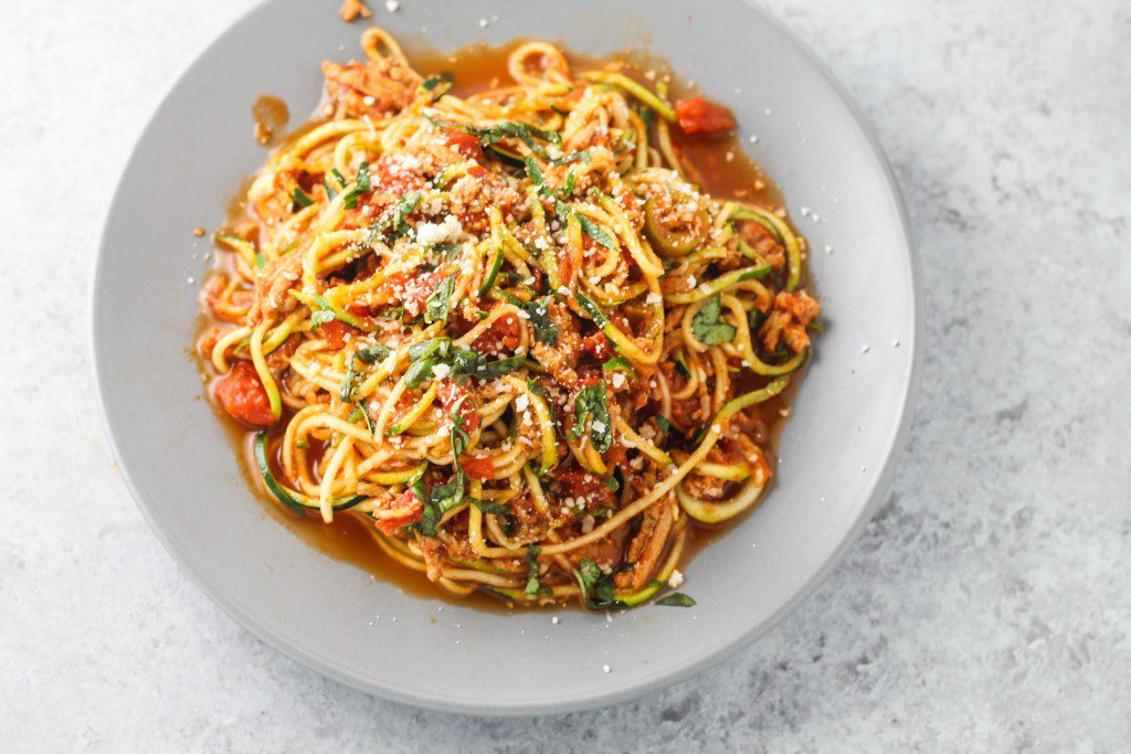 Low carb diet recipes: Spaghetti Zoodles