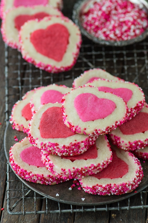 Valentine's Day Recipes: Slice n bake valentines day cookies