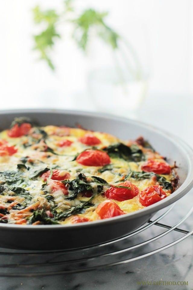 Grain free Recipes: Spinach and tomato pie