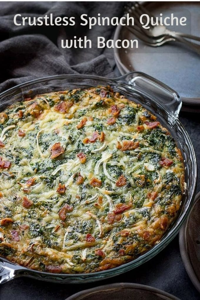 Low carb diet recipes: Crust-less Spinach Quiche