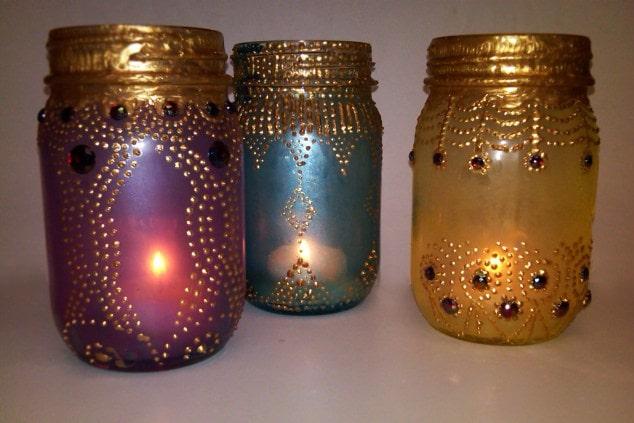 Bohemian inspired bedroom: DIY Lanterns