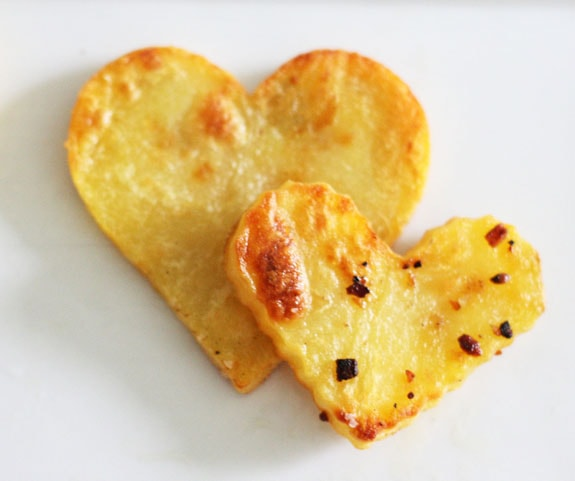 Valentine's Day Recipes: heart shaped roasted potatoes