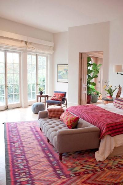 Bohemian Inspired Bedroom: Beautiful rug