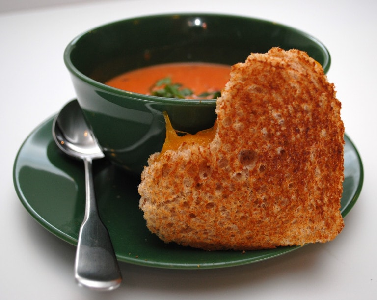 Valentine's Day Recipes: soup and sandwich