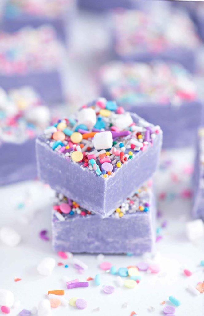 Valentine's Day Recipes: unicorn fudge