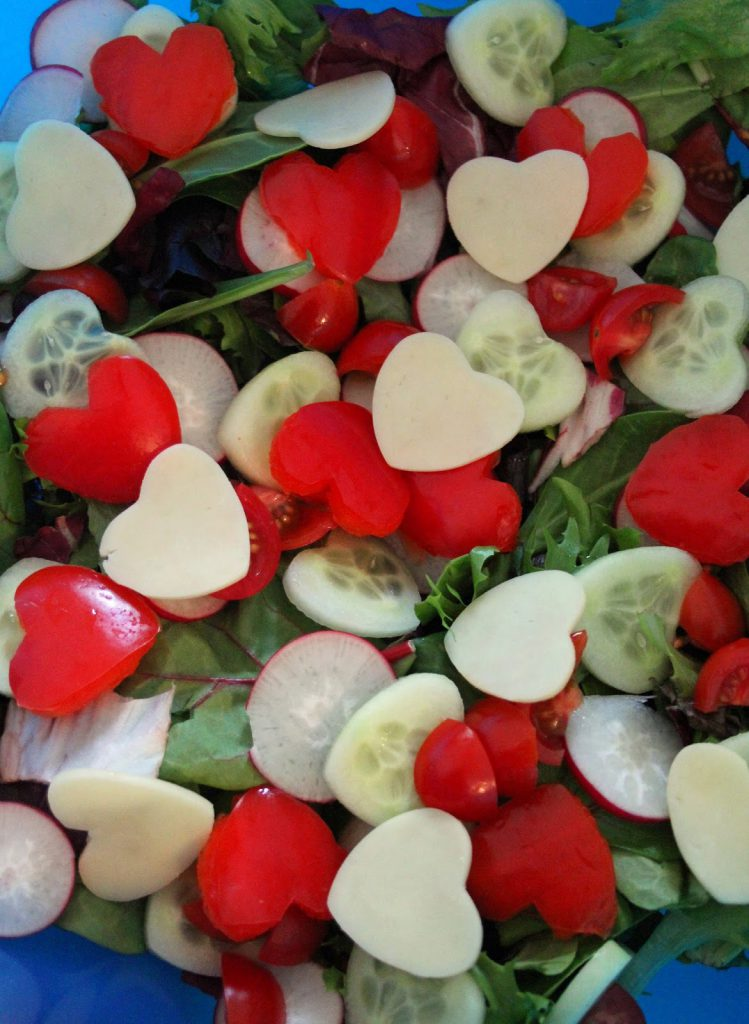 Valentine's Day Recipes: Valentines Heart Salad