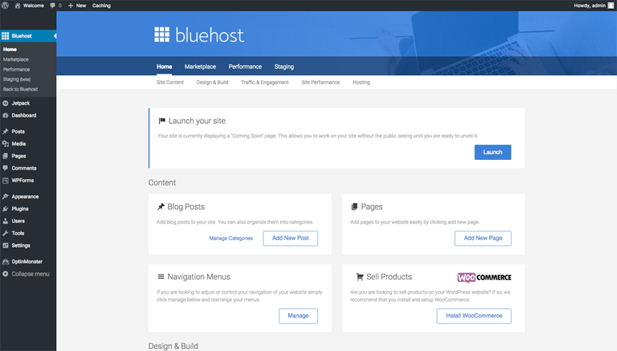 How to start a blog for beginners: Bluehost