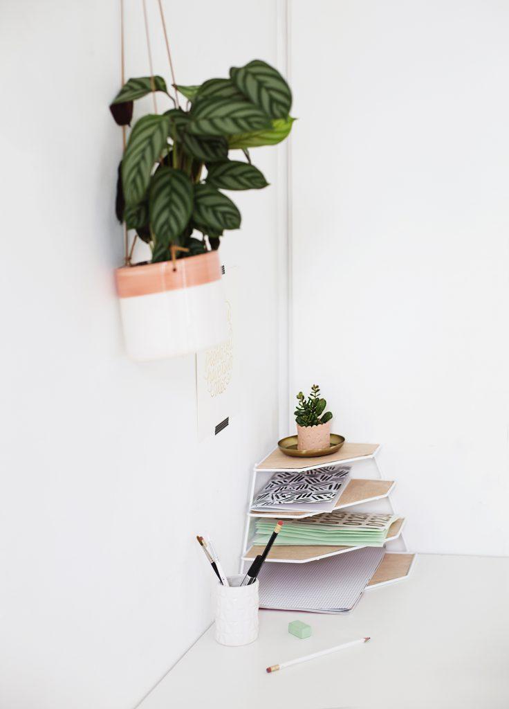 Desk organization tips: Balsa Wood desk organizer