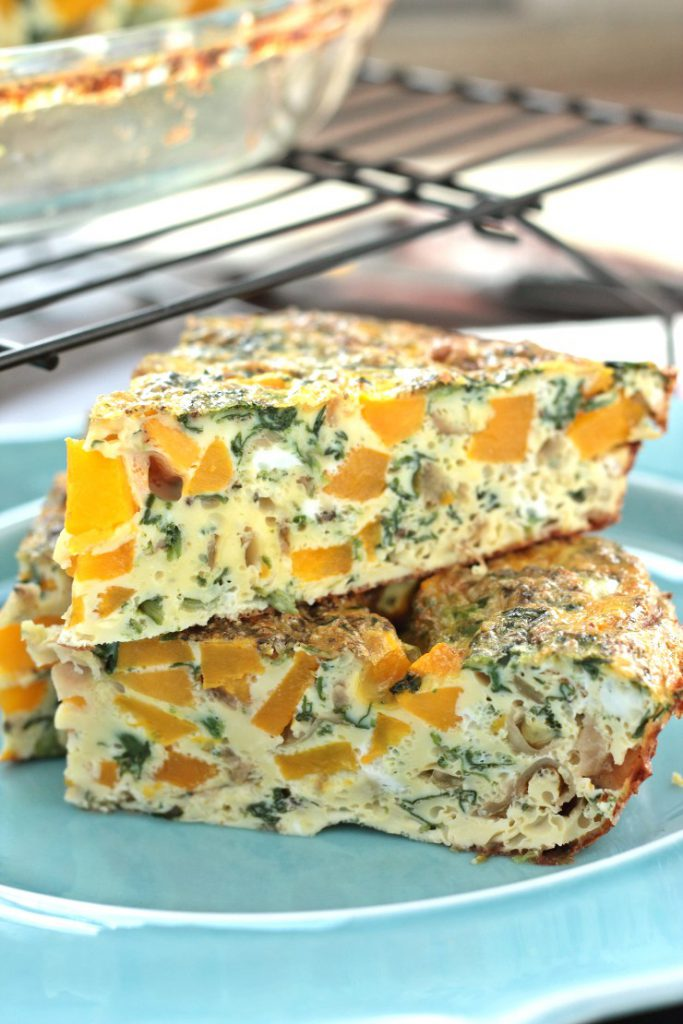 Butternut Squash Recipes: CaramelisedOnion Butternut Squash Crust less Quiche