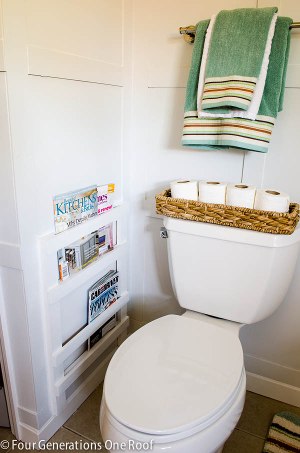 Organize your bathroom : magazine rack