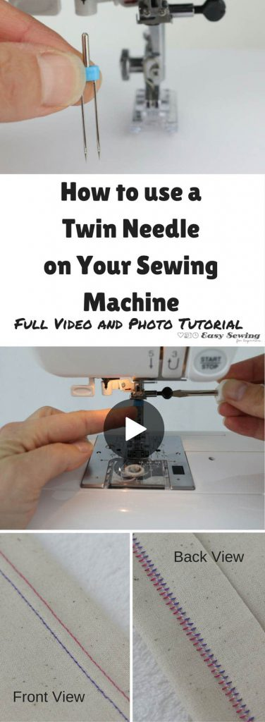 sewing hacks: how to Use a Twin Needle