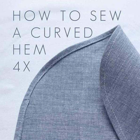 sewing hacks: curved hem