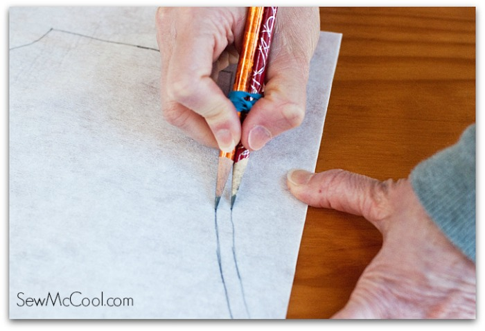 sewing hacks: drawing seam allowance