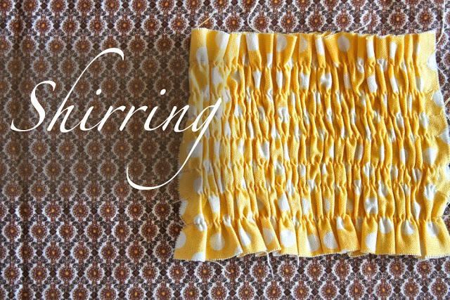 sewing hacks: shirring