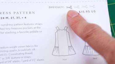 sewing hacks: understanding patterns