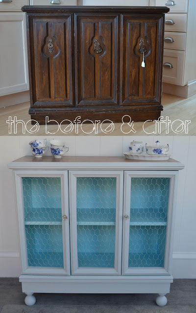 furniture makeover ideas:sweet little cabinet