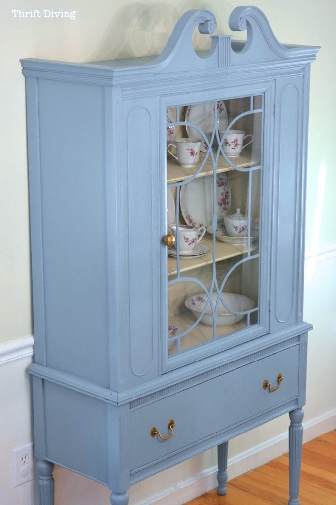 Furniture makeover ideas: China Cabinet Makeover