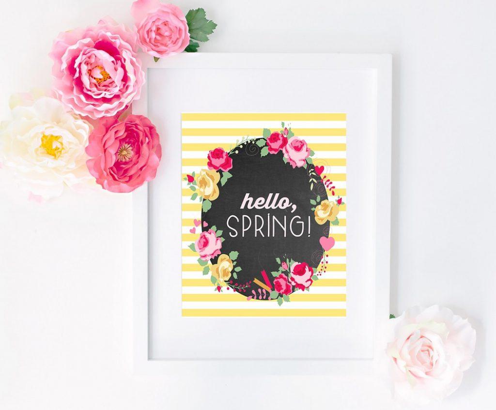 Free Printables: Hello Spring Printable