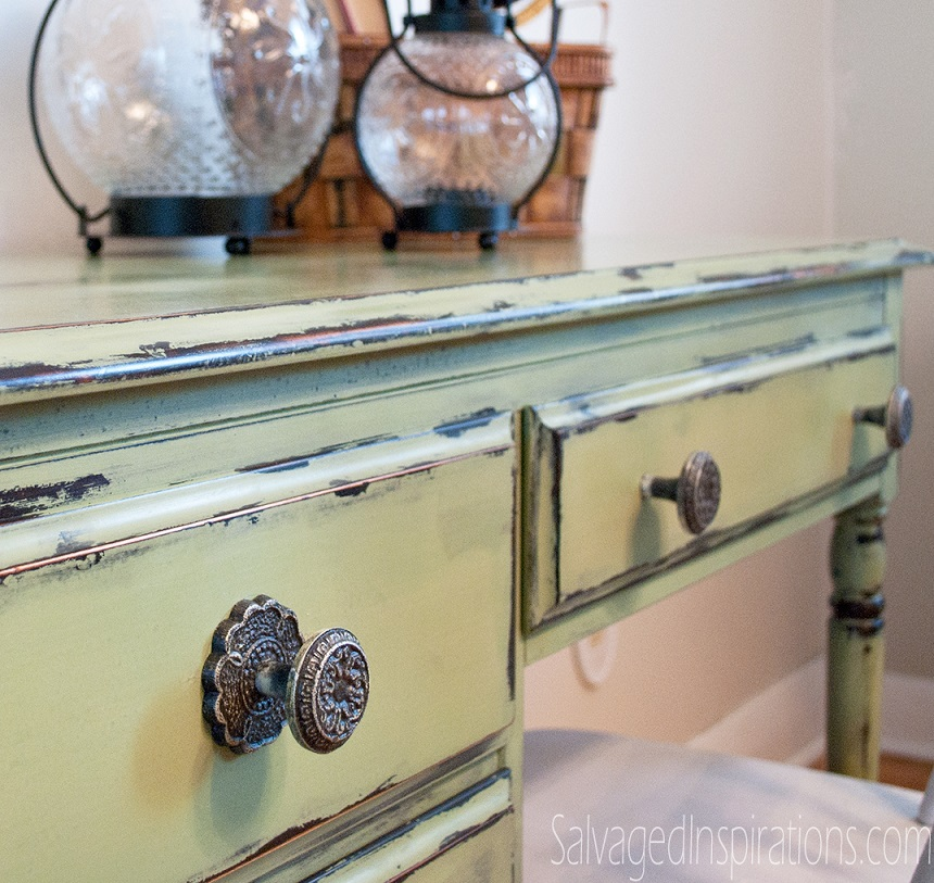 Furniture makeover ideas:Vaseline Distressed Desk