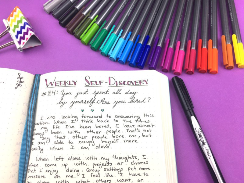 Bullet journal ideas: Self-discovery