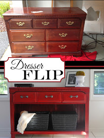 Furniture makeover ideas: Dresser To TV Stand