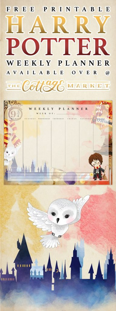 Free Printables: Harry Potter Weekly Planner