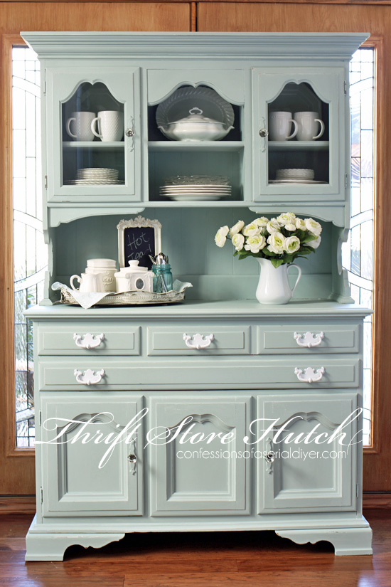 Furniture makeover ideas:Thrift Store hutch