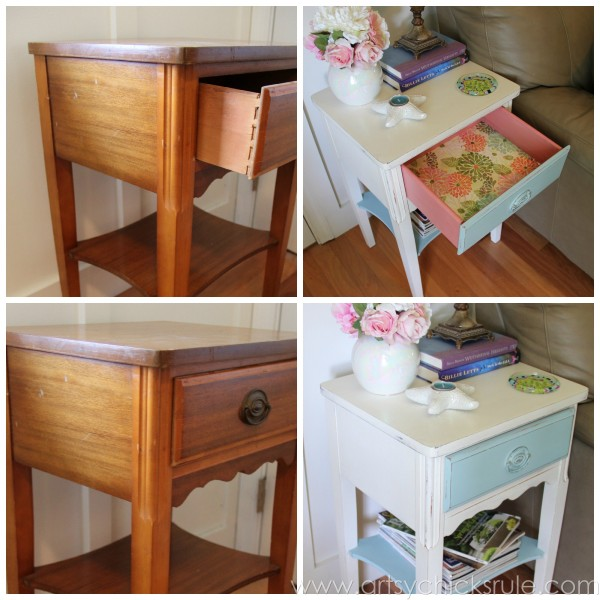 Furniture makeover ideas:Thrifty End Table Makeover