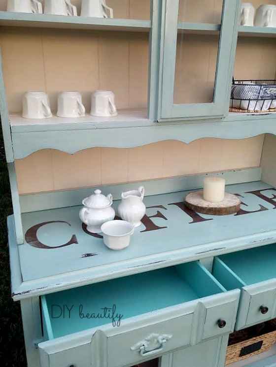 Furniture makeover ideas:coffee station