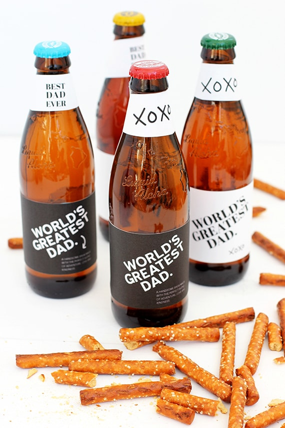 free printables: fathers day beer label printable