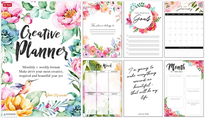 free printables: creative planner