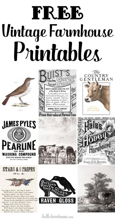Free Printables: free farmhouse printables