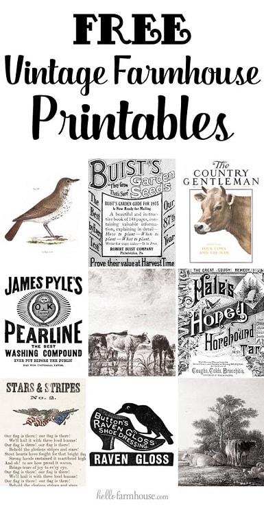 Free Printables: free farmhouse printables