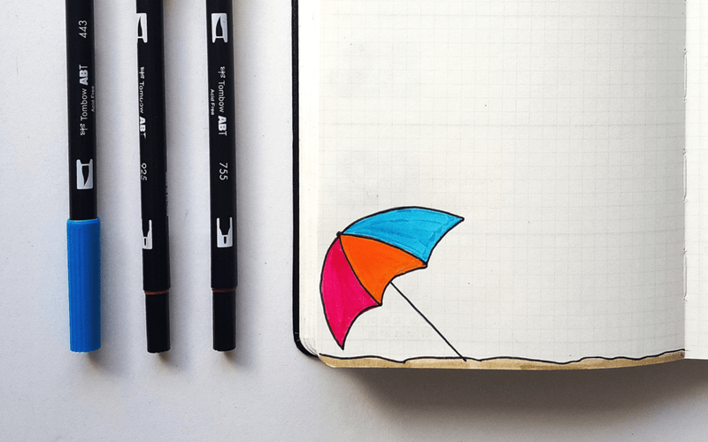 Bullet Journal Ideas:Fun Doodle Challenge