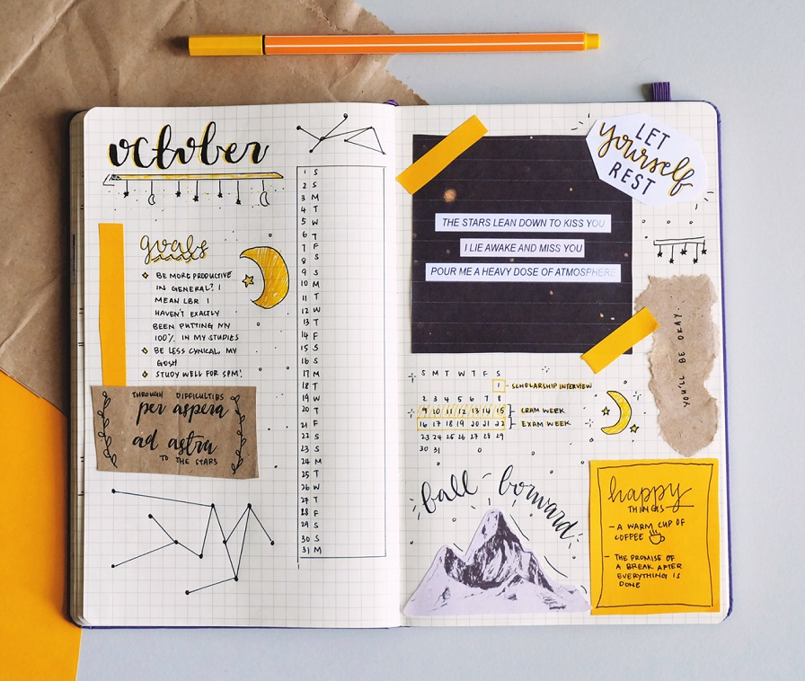 Bullet Journal Ideas:Get Creative