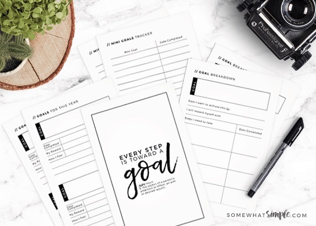 Free Printables: goal journal