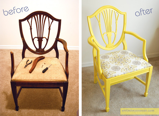 furniture makeover ideas: side chair makeover