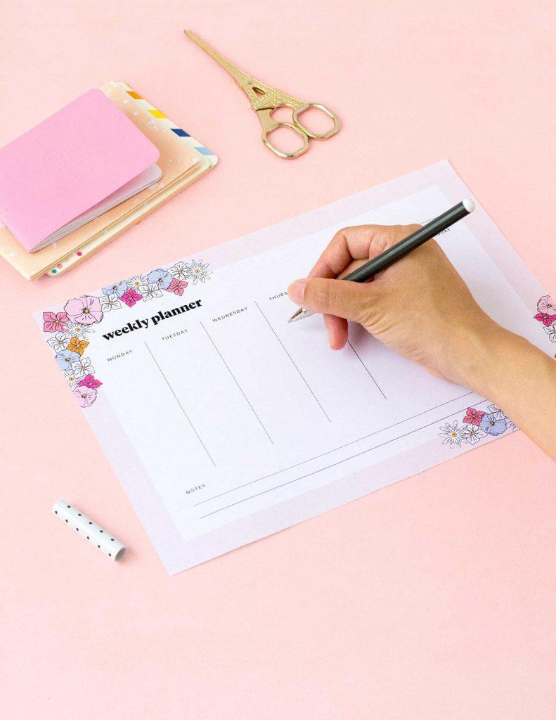 Free Printables: weekly planner