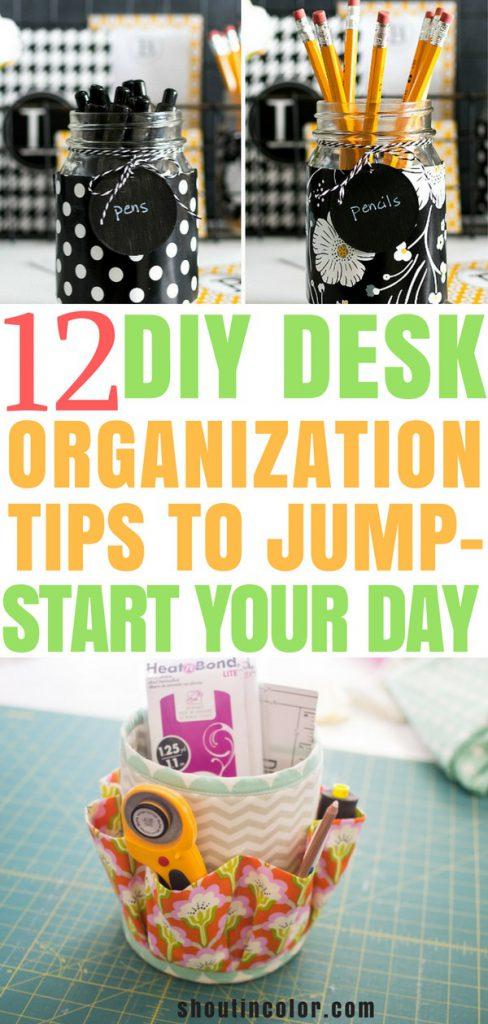 12 desk organization tips