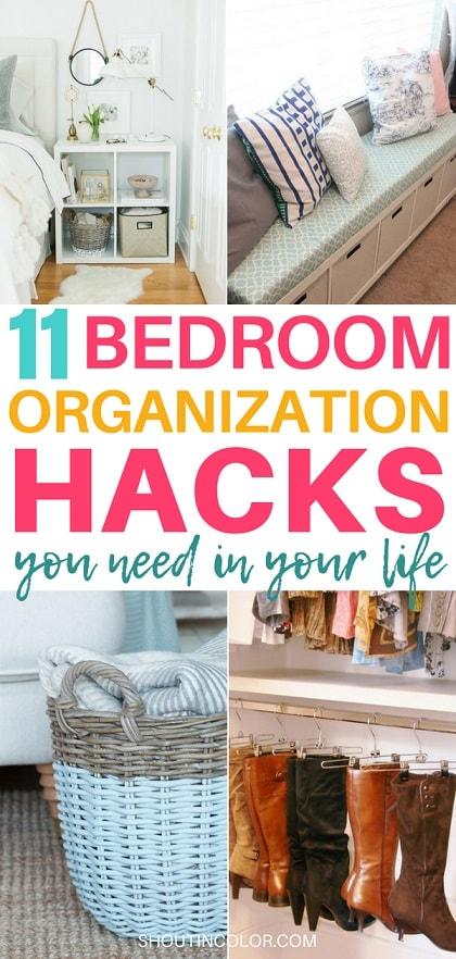 Bedroom Organization Hacks