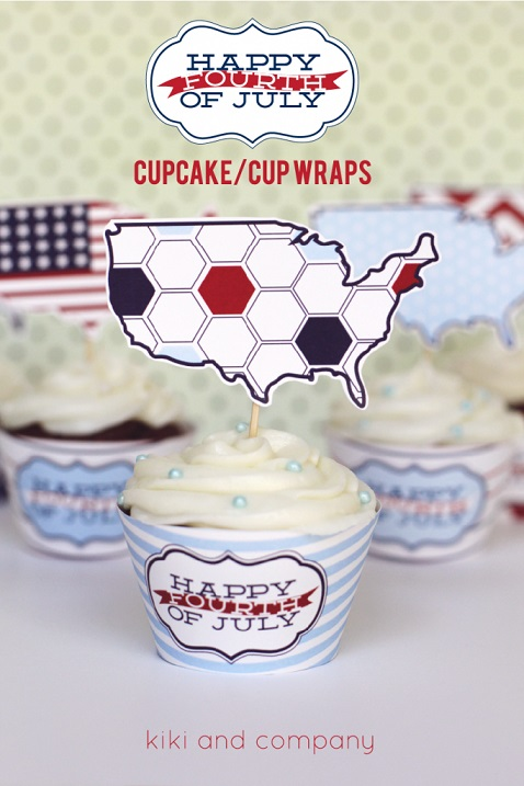 DIY Fourth of July decorations: Cupcake Wraps