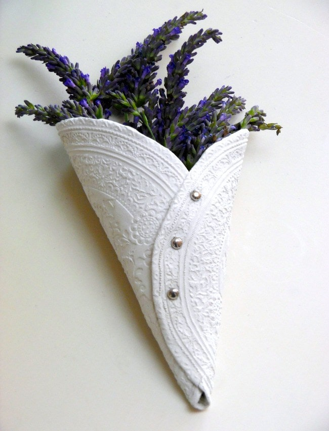 air dry clay projects: Lavender Holder