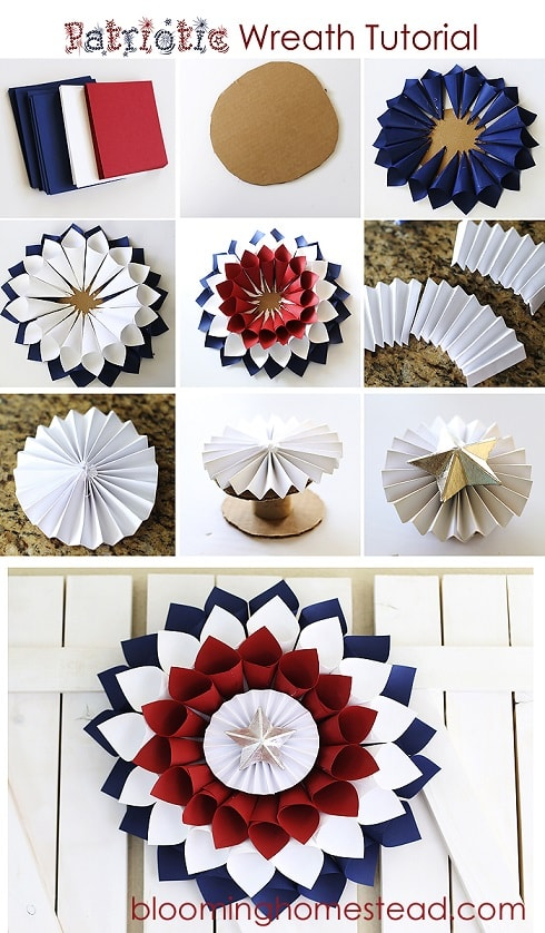 DIY fourth of July decorations: Patriotic Wreath