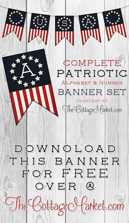 DIY fourth of July decorations: Patriotic Banner