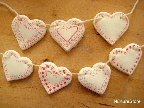 air dry clay projects: bunting