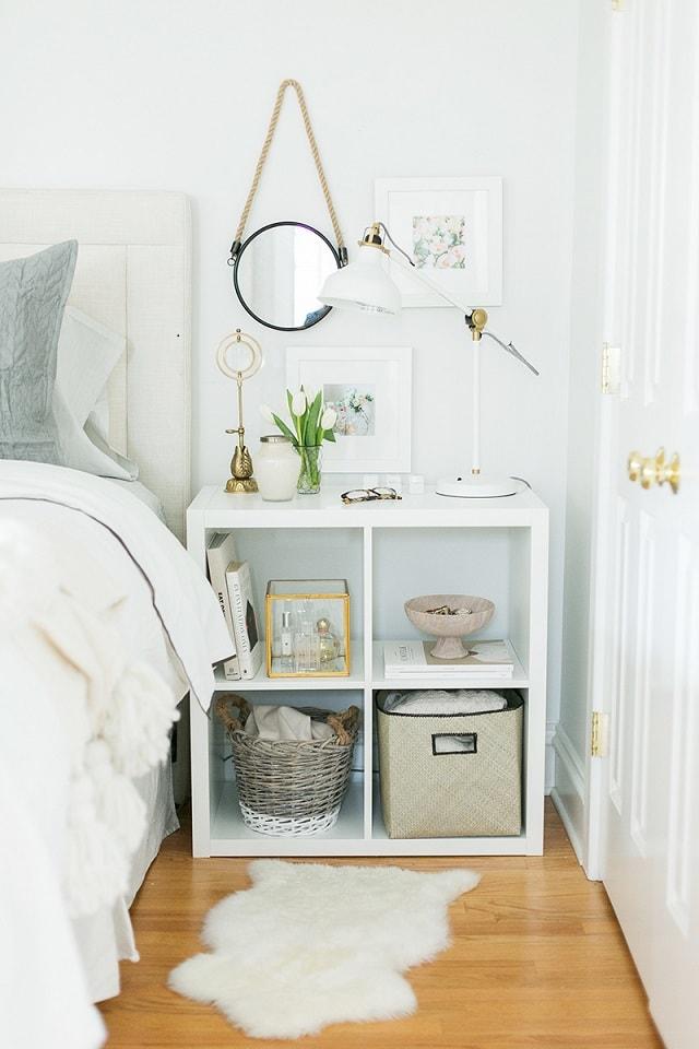 bedroom organization hacks: nightstand