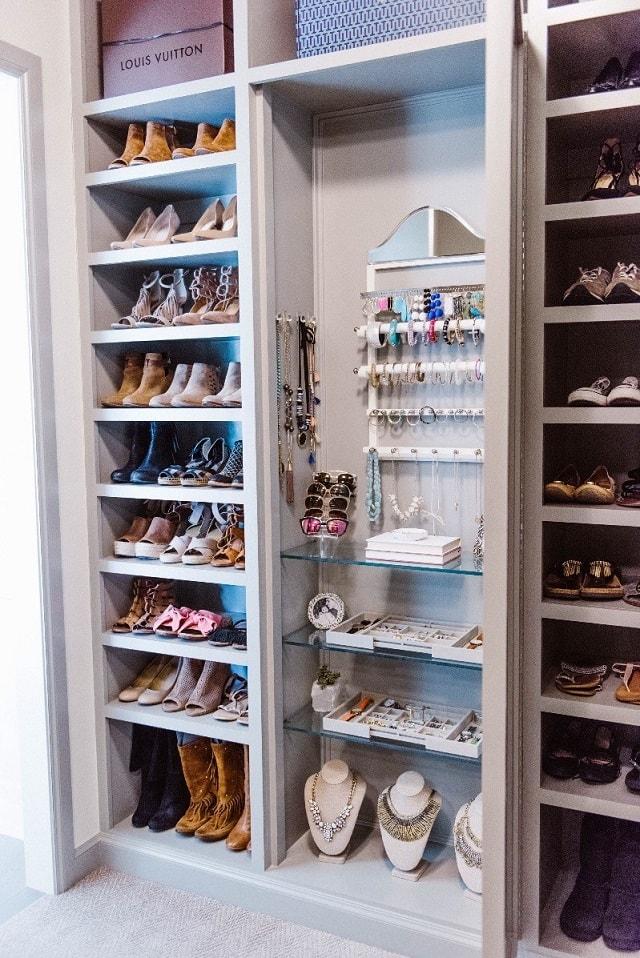 bedroom organization hacks: shoe organization